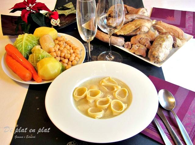 De plat en plat escudella i carn d olla - Vedella amb bolets olla express ...